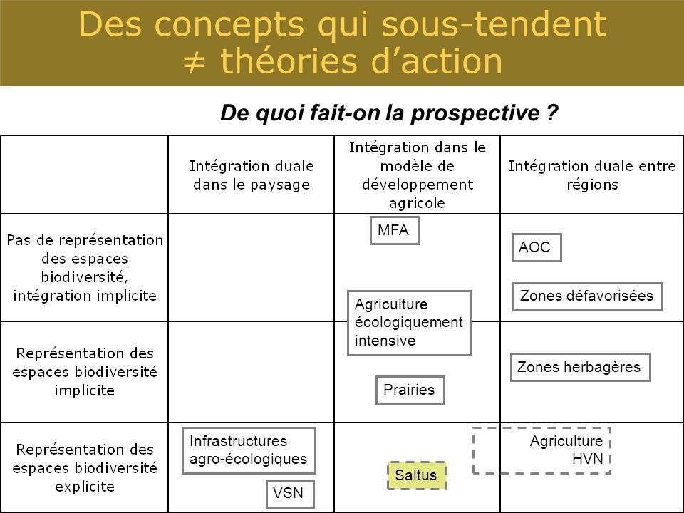 Des concepts qui sous-tendent ≠ théories d'action