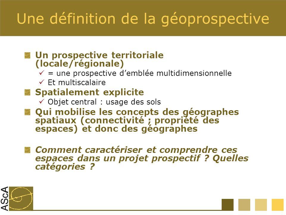 Une définition de la géoprospective