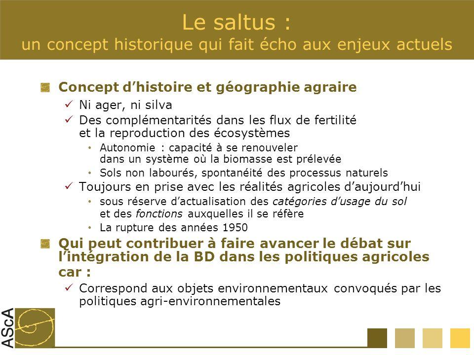 Le saltus : un concept historique qui fait écho aux enjeux actuels