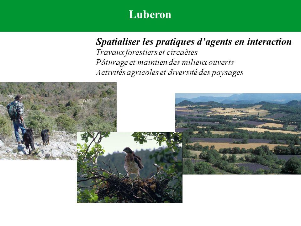 Luberon Spatialiser les pratiques d'agents en interaction