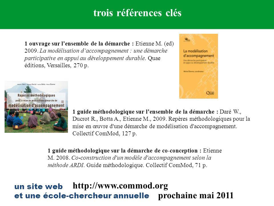 trois références clés http://www.commod.org prochaine mai 2011
