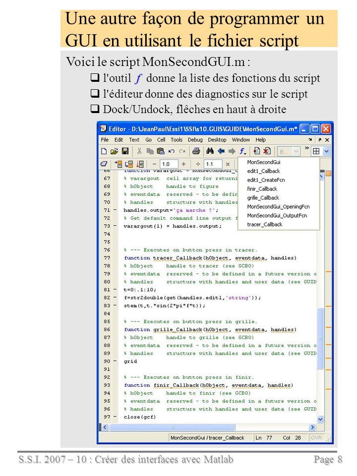 Une autre façon de programmer un GUI en utilisant le fichier script