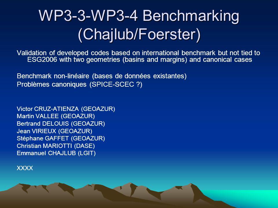 WP3-3-WP3-4 Benchmarking (Chajlub/Foerster)