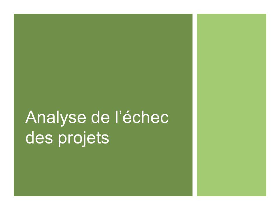 Analyse de l'échec des projets