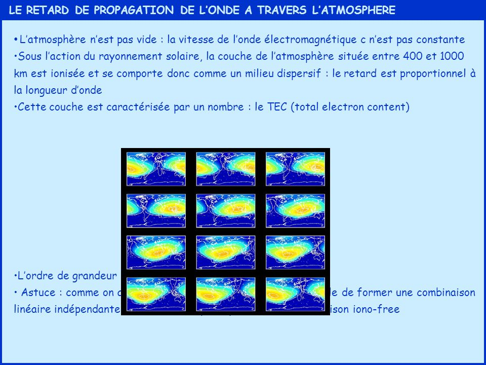 LE RETARD DE PROPAGATION DE L'ONDE A TRAVERS L'ATMOSPHERE
