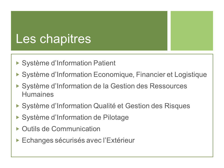 Les chapitres Système d'Information Patient