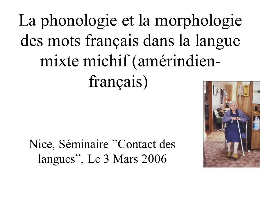Nice, Séminaire Contact des langues , Le 3 Mars 2006