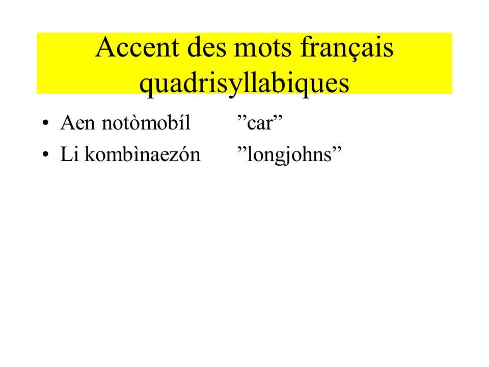 Accent des mots français quadrisyllabiques