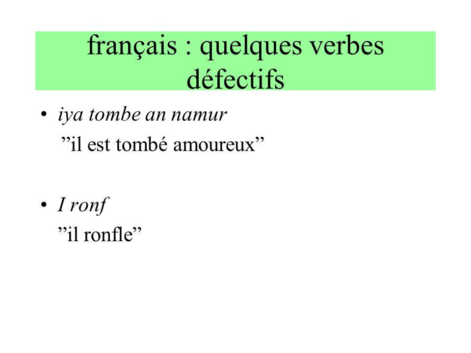 français : quelques verbes défectifs