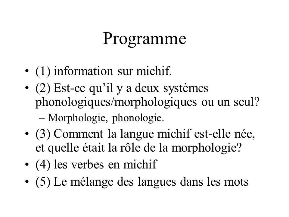 Programme (1) information sur michif.