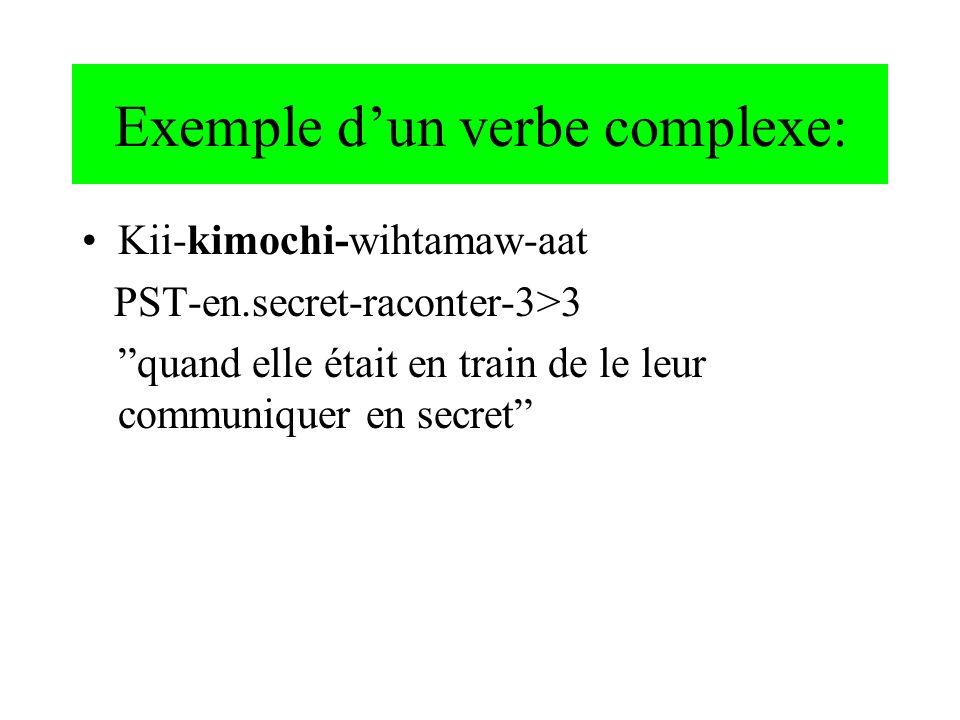 Exemple d'un verbe complexe: