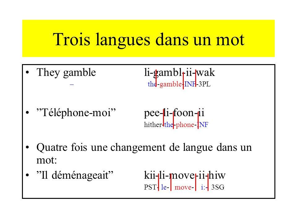 Trois langues dans un mot