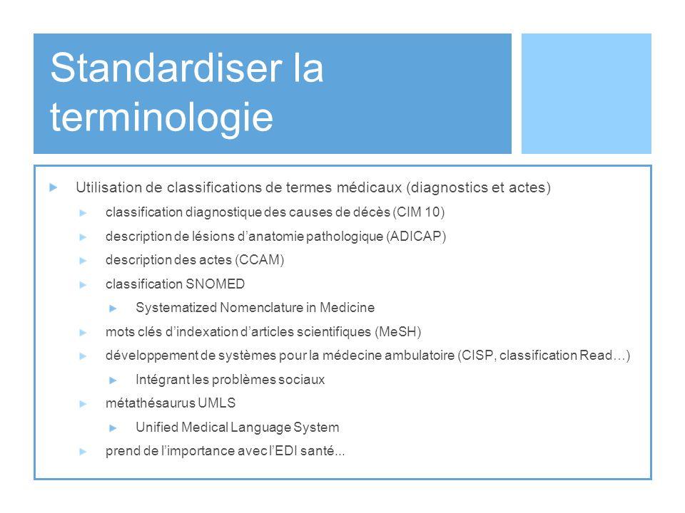 Standardiser la terminologie