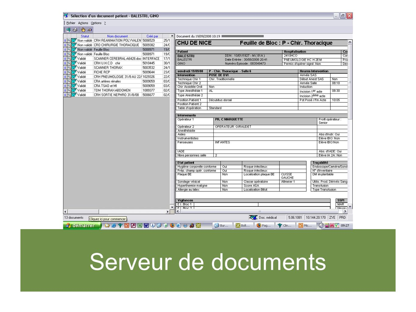 Serveur de documents