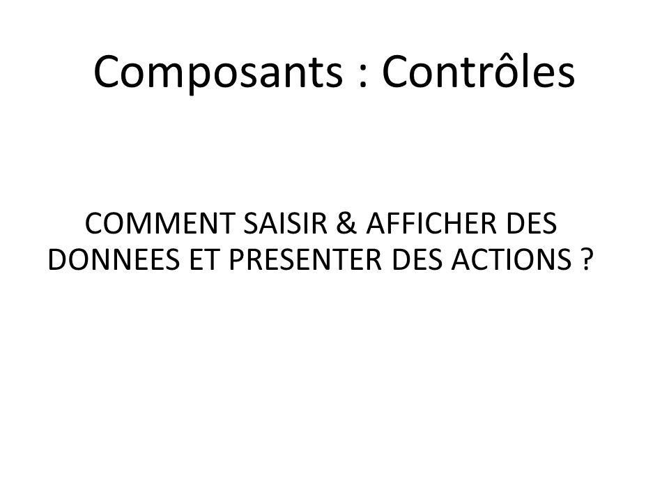 Composants : Contrôles