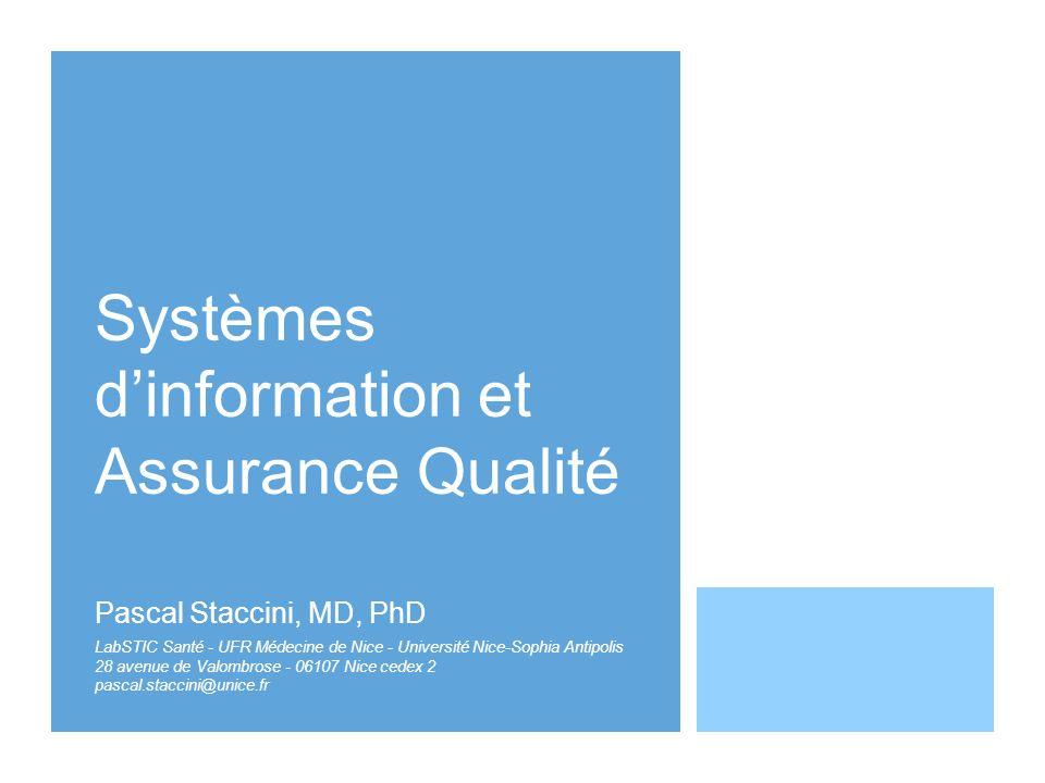Systèmes d'information et Assurance Qualité