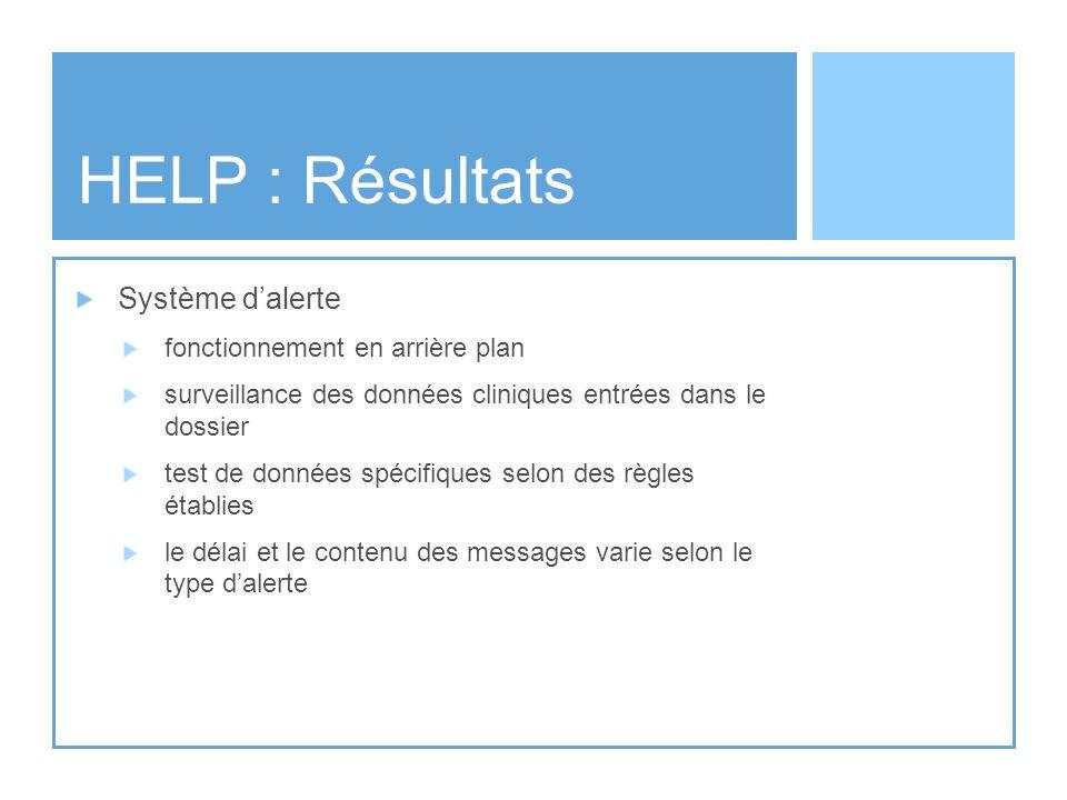 HELP : Résultats Système d'alerte fonctionnement en arrière plan