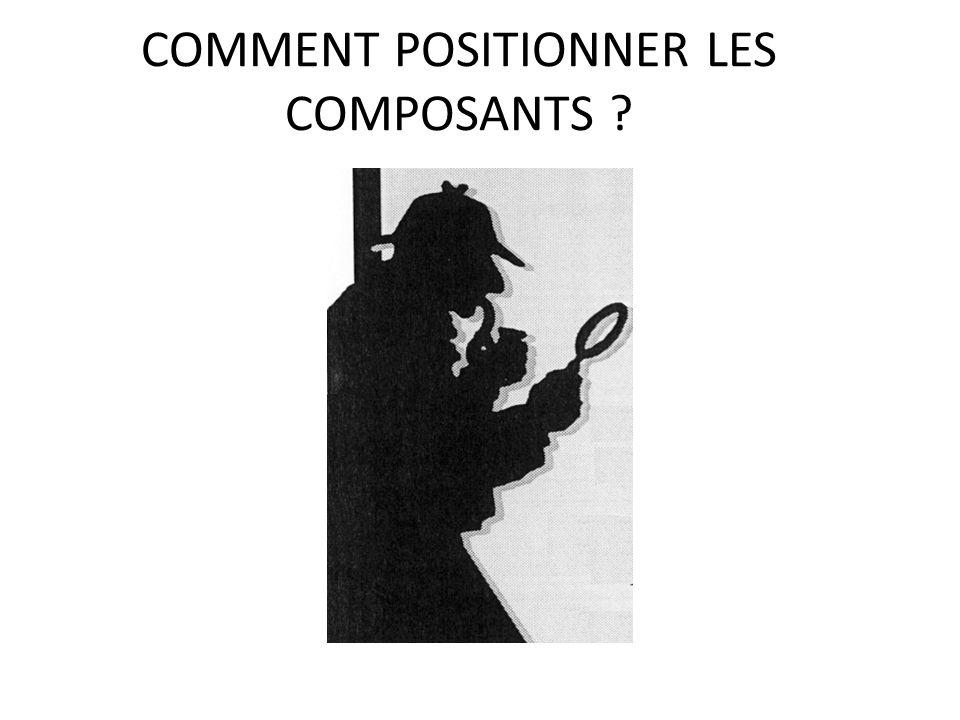 COMMENT POSITIONNER LES COMPOSANTS