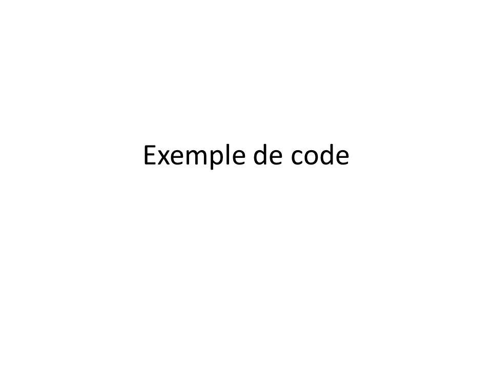 Exemple de code