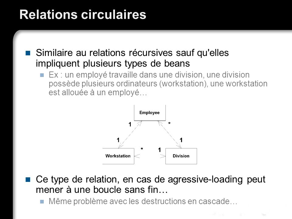 Relations circulaires