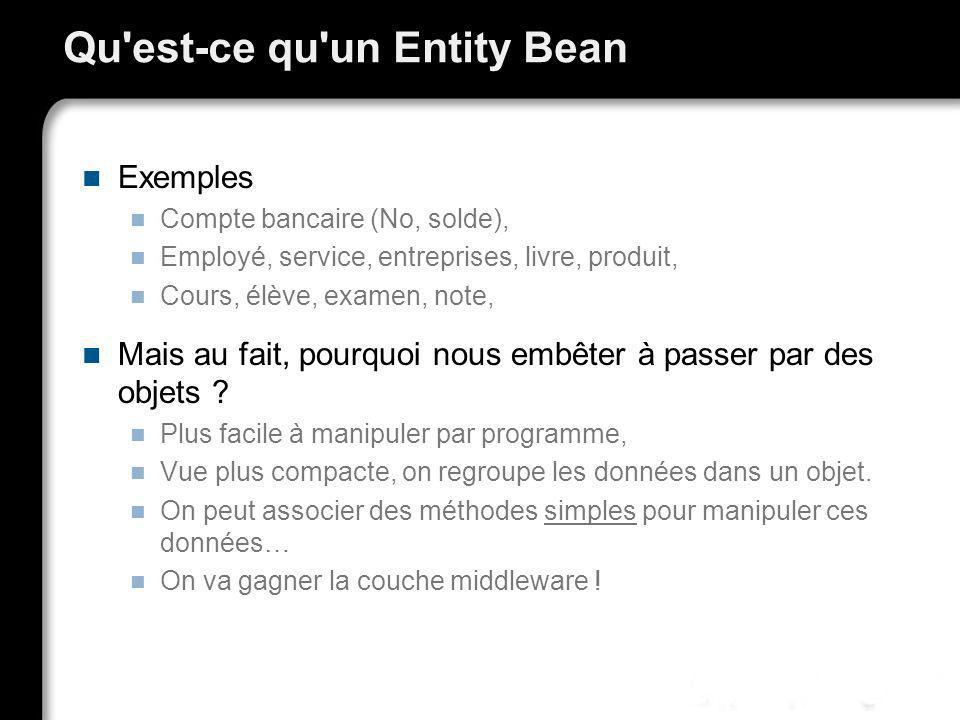 Qu est-ce qu un Entity Bean