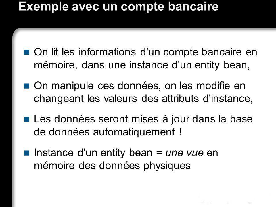 Exemple avec un compte bancaire