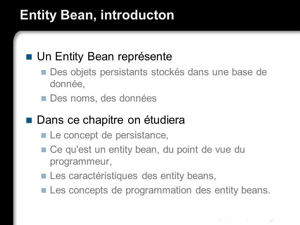 Entity Bean, introducton