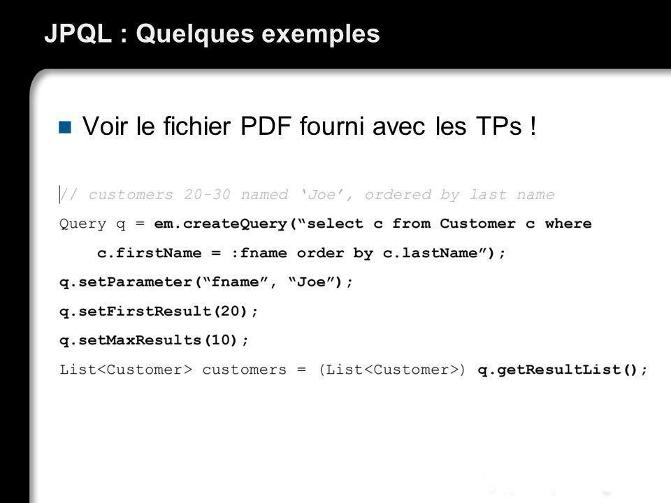 JPQL : Quelques exemples