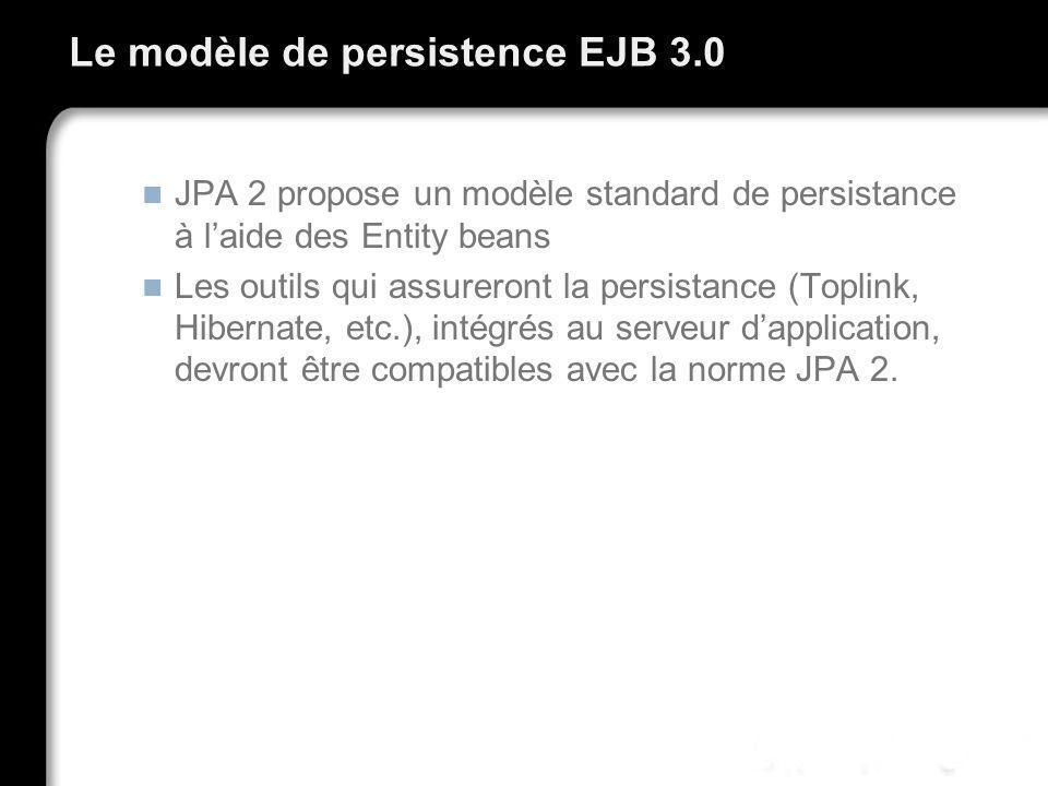 Le modèle de persistence EJB 3.0
