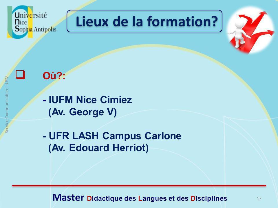 Master Didactique des Langues et des Disciplines