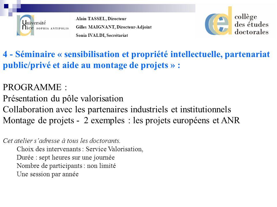 public/privé et aide au montage de projets » : PROGRAMME :