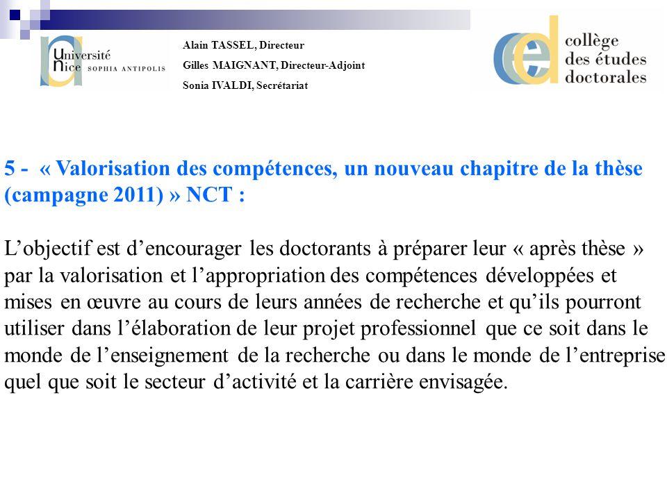 5 - « Valorisation des compétences, un nouveau chapitre de la thèse