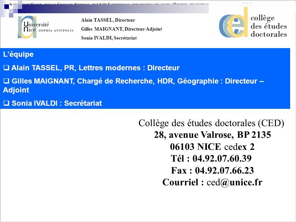 Collège des études doctorales (CED)