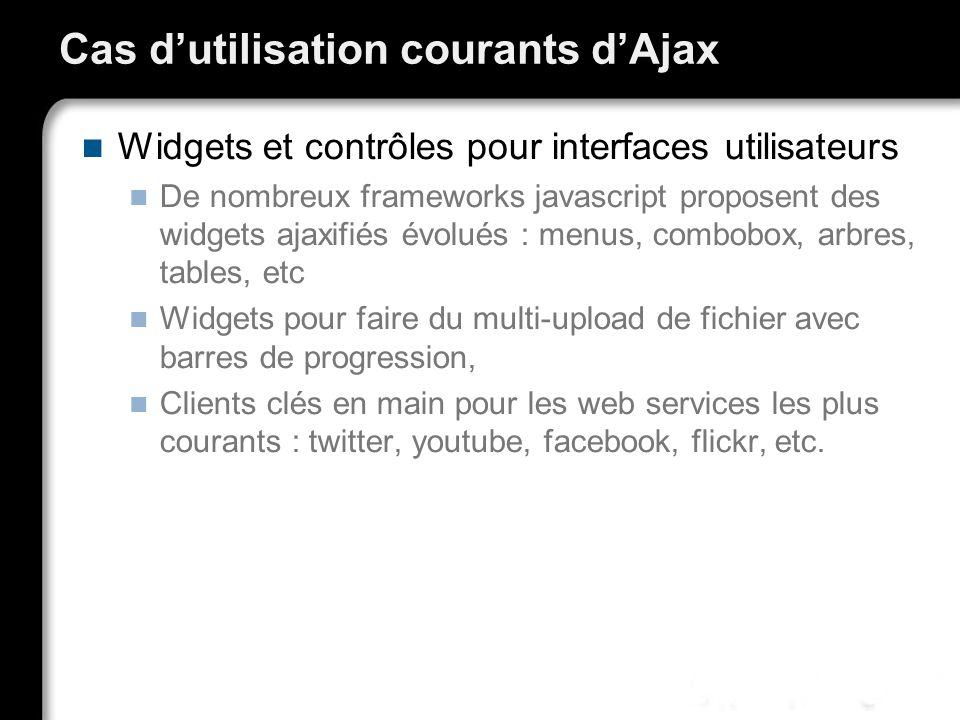 Cas d'utilisation courants d'Ajax