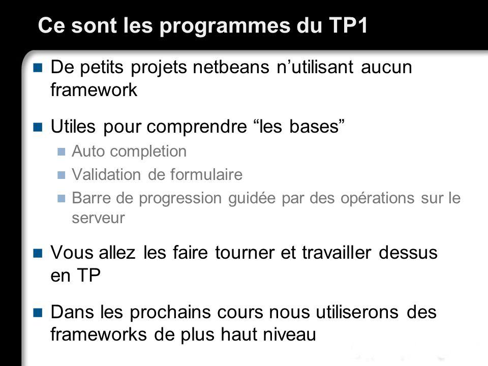 Ce sont les programmes du TP1
