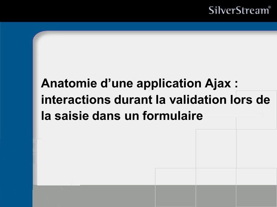 27/03/2017 Anatomie d'une application Ajax : interactions durant la validation lors de la saisie dans un formulaire.
