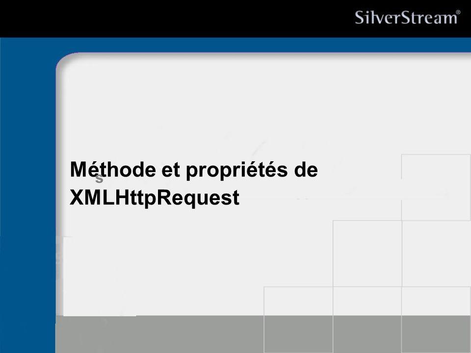 Méthode et propriétés de XMLHttpRequest
