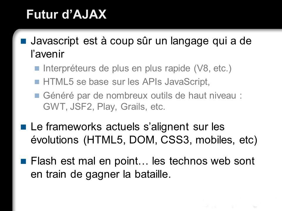 Futur d'AJAX Javascript est à coup sûr un langage qui a de l'avenir