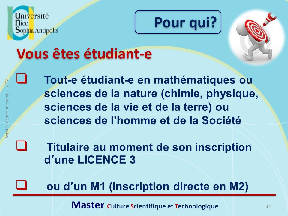 Master Culture Scientifique et Technologique