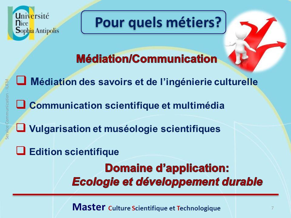Pour quels métiers Médiation/Communication