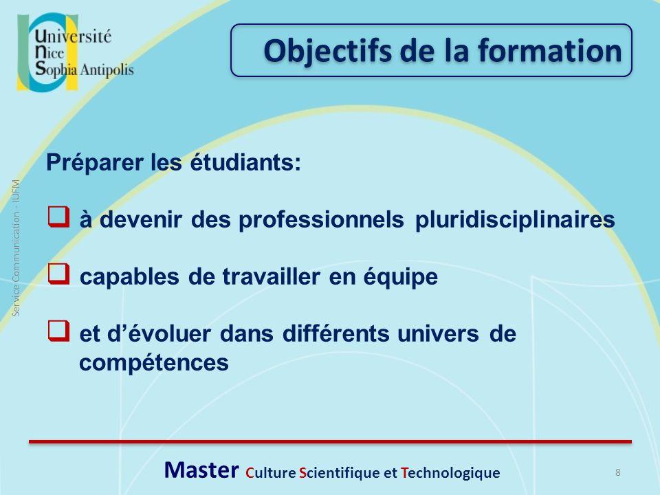 Master Culture Scientifique et Technologique
