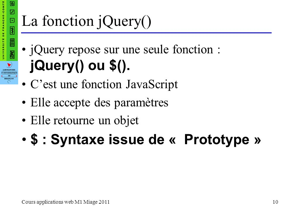 La fonction jQuery() $ : Syntaxe issue de « Prototype »