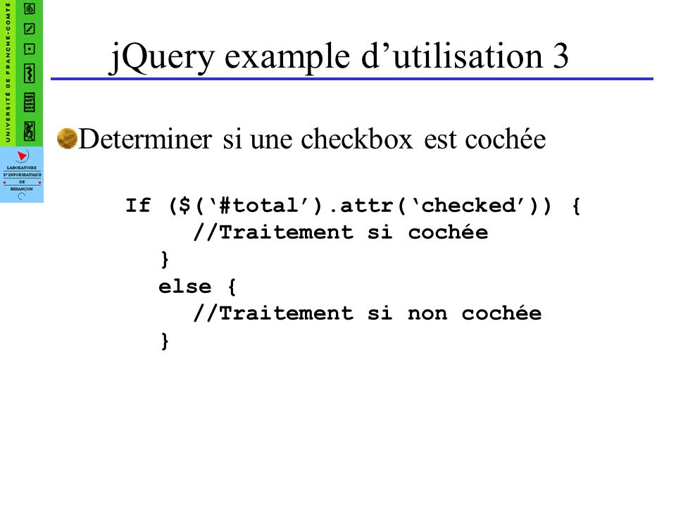 jQuery example d'utilisation 3
