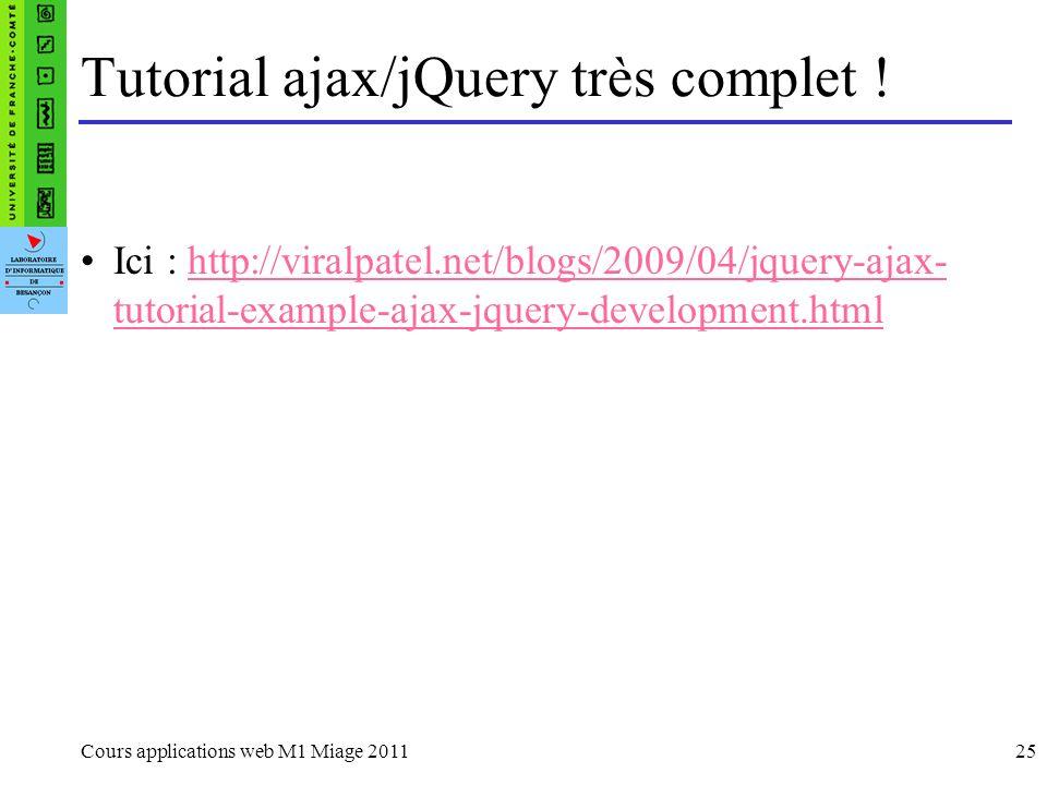 Tutorial ajax/jQuery très complet !