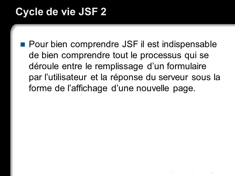 Cycle de vie JSF 2