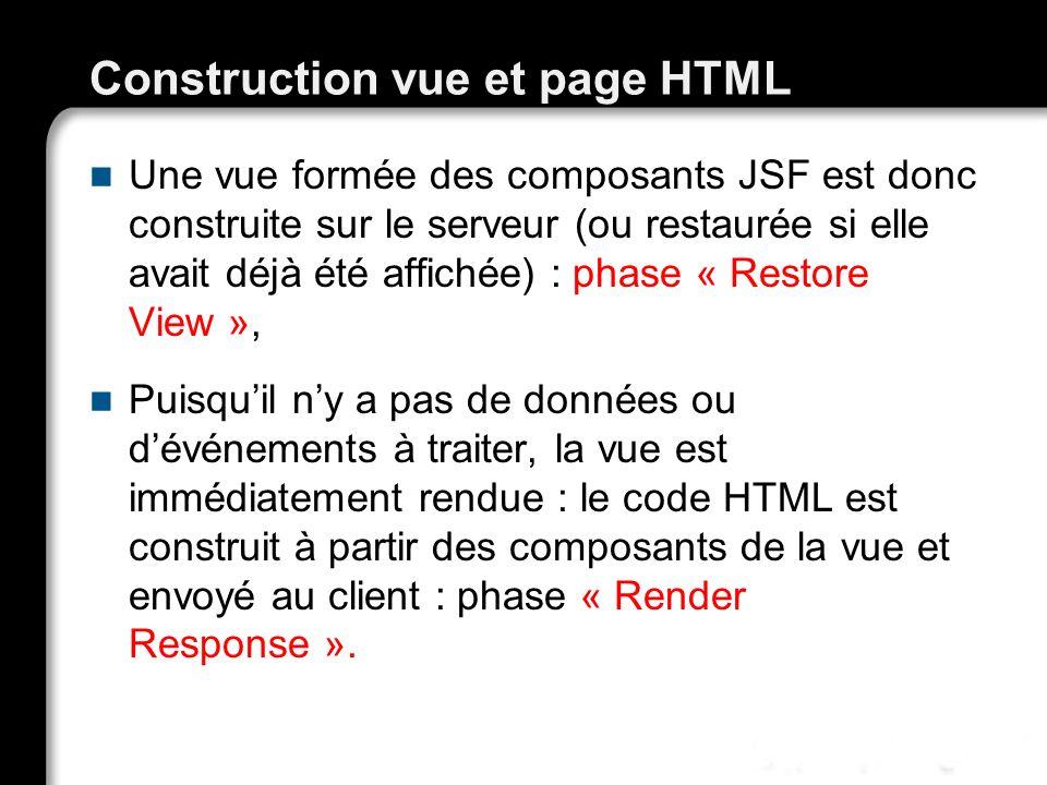 Construction vue et page HTML