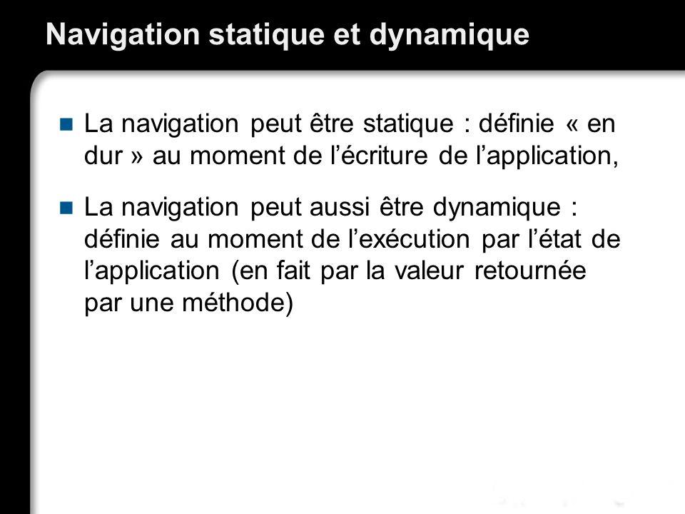 Navigation statique et dynamique