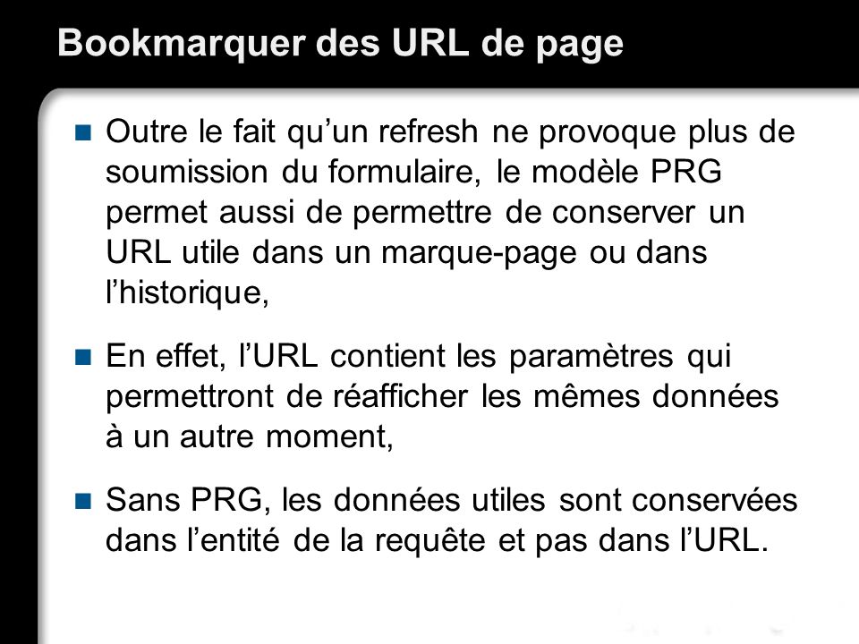 Bookmarquer des URL de page