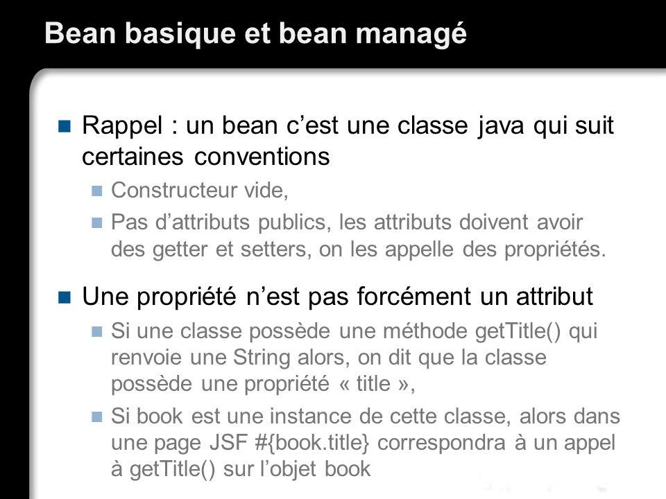 Bean basique et bean managé