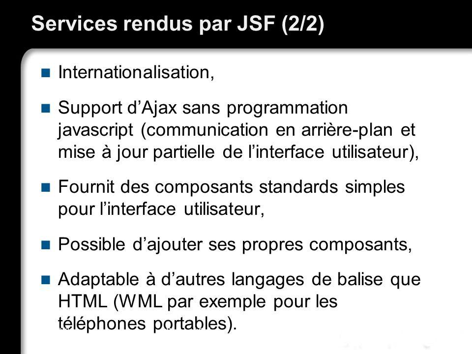 Services rendus par JSF (2/2)